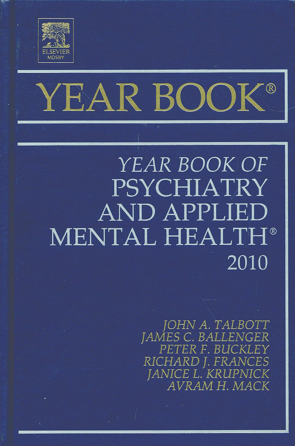 Portada del libro 9780323068444 Year Book of Psychiatry and Applied Mental Health 2010