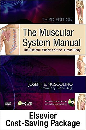 Portada del libro 9780323071666 The Muscular System Manual - Text, Flashcards 2e, and Coloring Book 2e Package