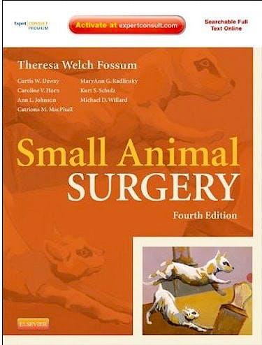 Portada del libro 9780323077620 Small Animal Surgery (Online and Print)