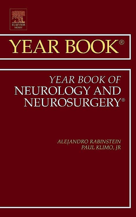 Portada del libro 9780323084185 Year Book of Neurology and Neurosurgery