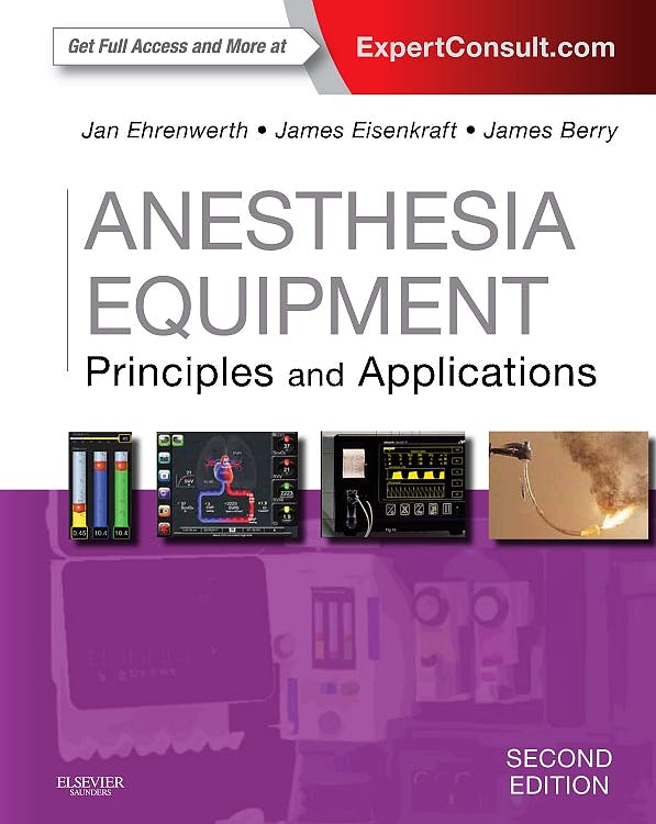 Portada del libro 9780323112376 Anesthesia Equipment. Principles and Applications (Online and Print)