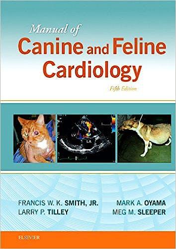 Portada del libro 9780323188029 Manual of Canine and Feline Cardiology