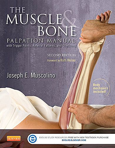 Portada del libro 9780323221962 The Muscle and Bone Palpation Manual with Trigger Points, Referral Patterns and Stretching