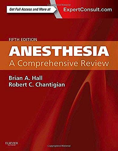Portada del libro 9780323286626 Anesthesia. A Comprehensive Review
