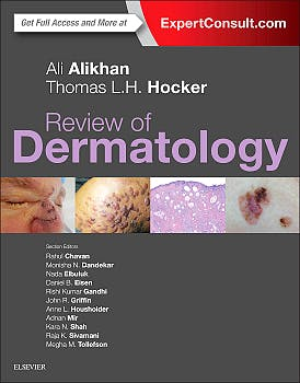 Portada del libro 9780323296724 Review of Dermatology