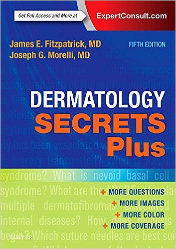 Portada del libro 9780323310291 Dermatology Secrets Plus (Print and Online)