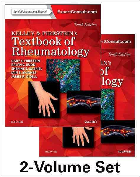 Portada del libro 9780323316965 Kelley and Firestein's Textbook of Rheumatology, 2 Vols. (Online and Print)