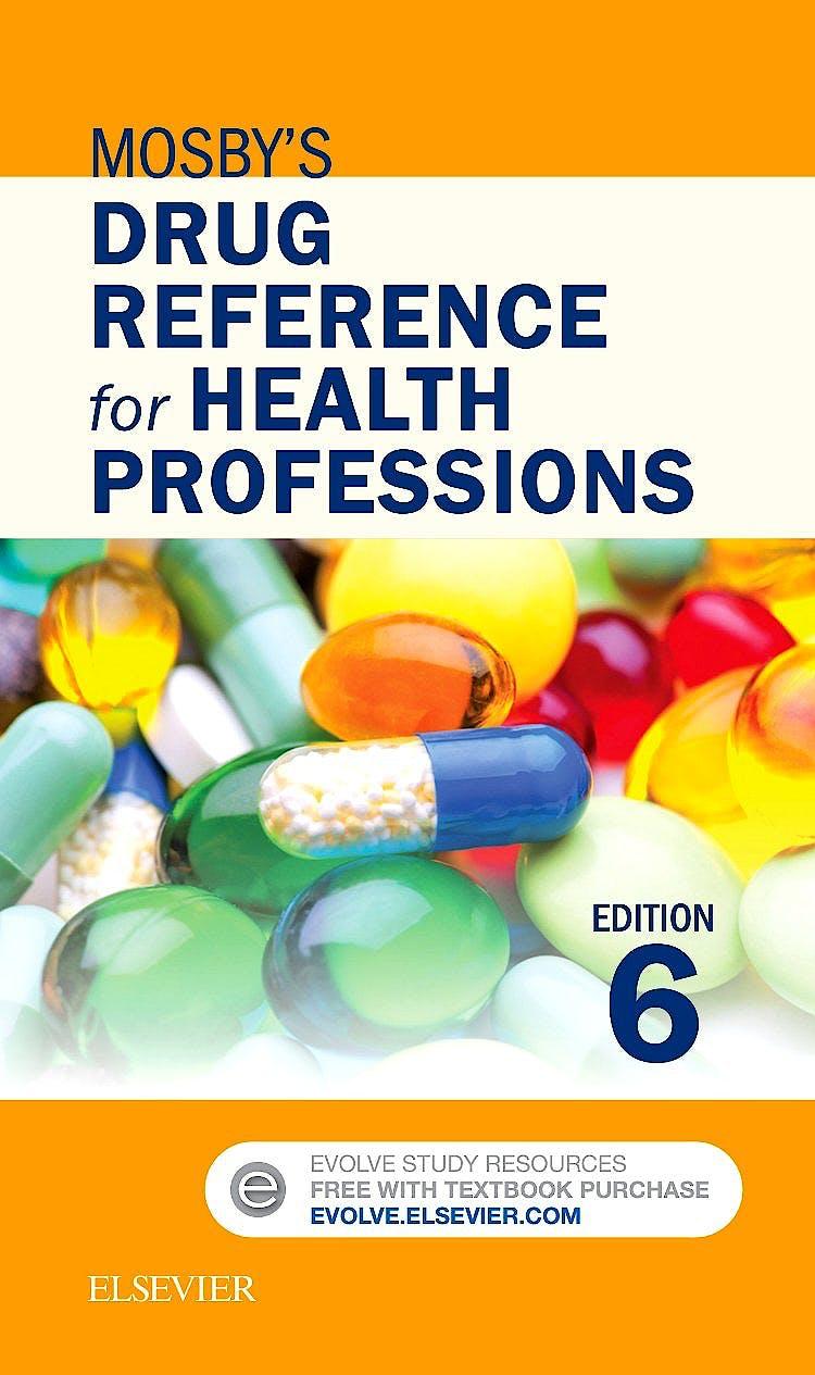 Portada del libro 9780323320696 Mosby's Drug Reference for Health Professions