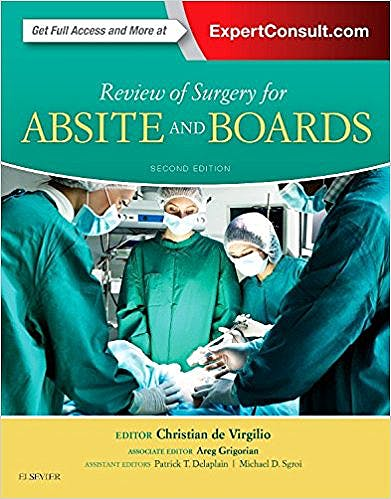 Portada del libro 9780323356428 Review of Surgery for Absite and Boards (Online and Print)