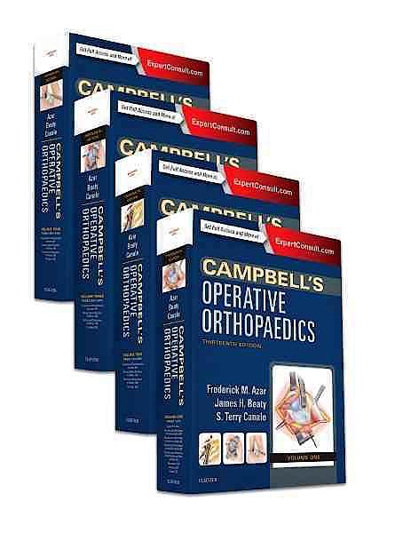 Portada del libro 9780323374620 Campbell's Operative Orthopaedics, 4 Vols. (Print + Online)