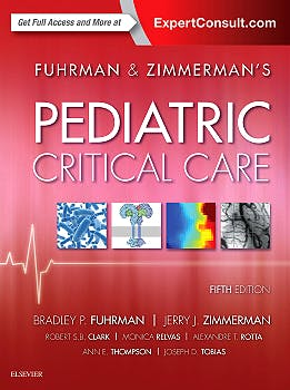 Portada del libro 9780323378390 Fuhrman and Zimmerman's Pediatric Critical Care (Print and Online)