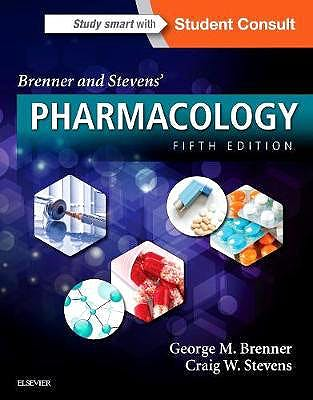 Portada del libro 9780323391665 Brenner and Stevens' Pharmacology + Online Access