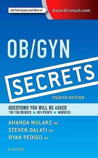 Portada del libro 9780323399227 Ob/gyn Secrets