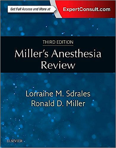 Portada del libro 9780323400541 Miller's Anesthesia Review (Print and Online)