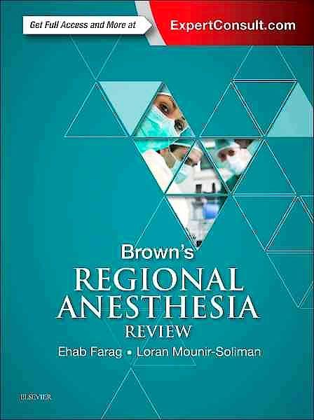Portada del libro 9780323400565 Brown's Regional Anesthesia Review