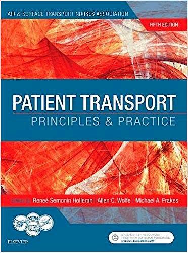 Portada del libro 9780323401104 Patient Transport. Principles and Practice