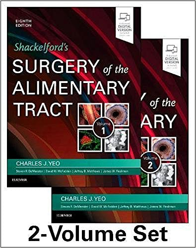 Portada del libro 9780323402323 Shackelford's Surgery of the Alimentary Tract, 2 Vols. (Print and Online)