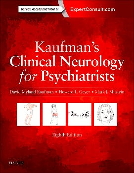 Portada del libro 9780323415590 Kaufman's Clinical Neurology for Psychiatrists (Online and Print)