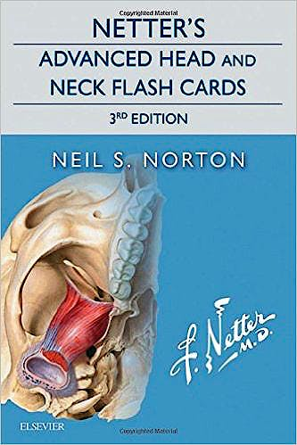 Portada del libro 9780323442794 Netter's Advanced Head and Neck Flash Cards