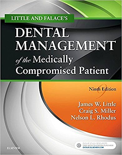 Portada del libro 9780323443555 Little and Falace's Dental Management of the Medically Compromised Patient