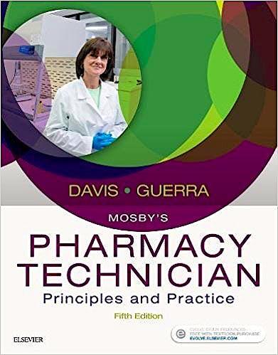 Portada del libro 9780323443562 Mosby's Pharmacy Technician. Principles and Practice