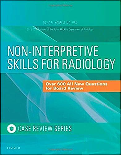 Portada del libro 9780323473521 Non-Interpretive Skills for Radiology: Case Review