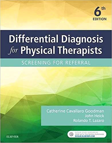 Portada del libro 9780323478496 Differential Diagnosis for Physical Therapists: Screening for Referral