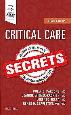 Portada del libro 9780323510646 Critical Care Secrets (Print and Online)