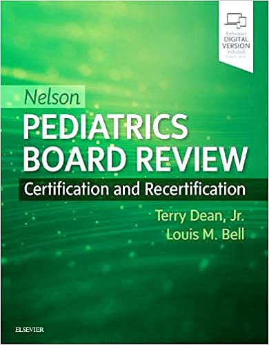 Portada del libro 9780323530514 NELSON Pediatrics Board Review. Certification and Recertification (Print and Online)