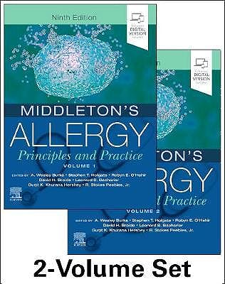 Portada del libro 9780323544245 Middleton's Allergy. Principles and Practice, 2 Vols. (Print + Online)