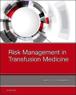 Portada del libro 9780323548373 Risk Management in Blood Transfusion Medicine