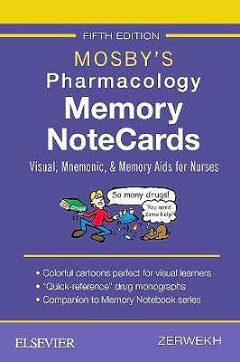 Portada del libro 9780323549516 Mosby's Pharmacology Memory NoteCards. Visual, Mnemonic, and Memory Aids for Nurses