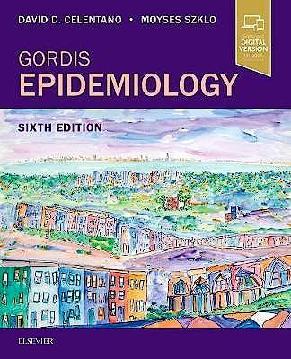 Portada del libro 9780323552295 Gordis Epidemiology (Print and Online)