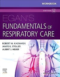 Portada del libro 9780323553667 Workbook for Egan's Fundamentals of Respiratory Care