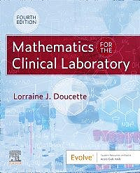 Portada del libro 9780323554824 Mathematics for the Clinical Laboratory