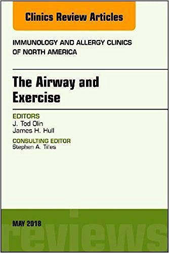 Portada del libro 9780323583589 The Airway and Exercise (An Issue of Immunology and Allergy Clinics of North America)