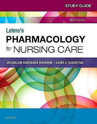 Portada del libro 9780323595445 Lehne's Pharmacology for Nursing Care. Study Guide