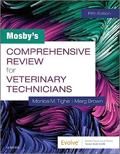 Portada del libro 9780323596152 Mosby's Comprehensive Review for Veterinary Technicians