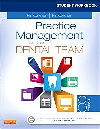 Portada del libro 9780323608282 Student Workbook for Practice Management for the Dental Team