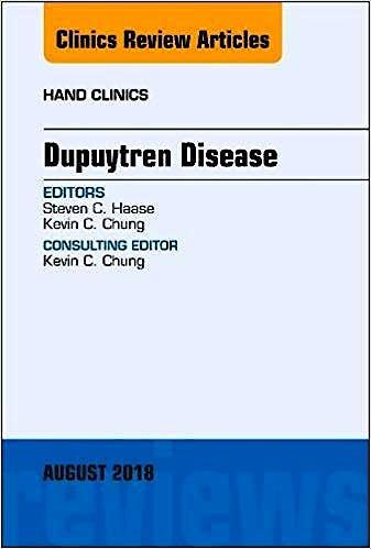Portada del libro 9780323613880 Dupuytren Disease (An Issue of Hand Clinics) POD