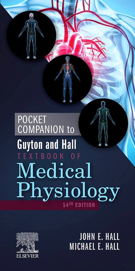 Portada del libro 9780323640077 Pocket Companion to Guyton and Hall Textbook of Medical Physiology