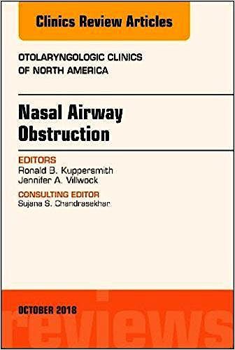 Portada del libro 9780323640954 Nasal Airway Obstruction (An Issue of Otolaryngologic Clinics of North America)