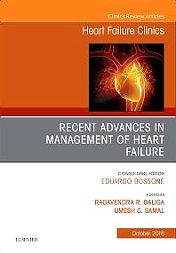 Portada del libro 9780323641258 Recent Advances in Management of Heart Failure (An Issue of Heart Failure Clinics, Vol. 14-4)