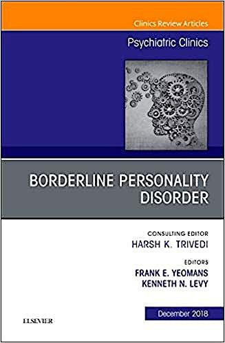 Portada del libro 9780323642132 Borderline Personality Disorder (An Issue of Psychiatric Clinics) POD