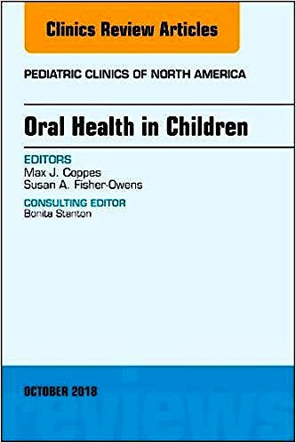 Portada del libro 9780323642231 Oral Health in Children (An Issue of Pediatric Clinics of North America, Vol. 65-5)
