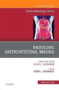 Portada del libro 9780323642330 Gastrointestinal Imaging (An Issue of Gastroenterology Clinics of North America)
