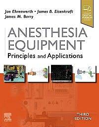 Portada del libro 9780323672795 Anesthesia Equipment. Principles and Applications