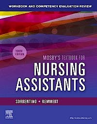 Portada del libro 9780323672887 Workbook and Competency Evaluation Review for Mosby's Textbook for Nursing Assistants