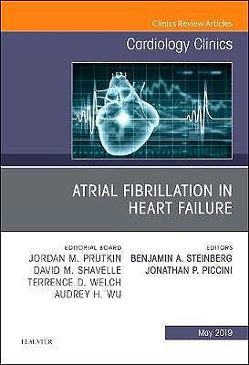 Portada del libro 9780323678544 Atrial Fibrillation in Heart Failure (An Issue of Cardiology Clinics)