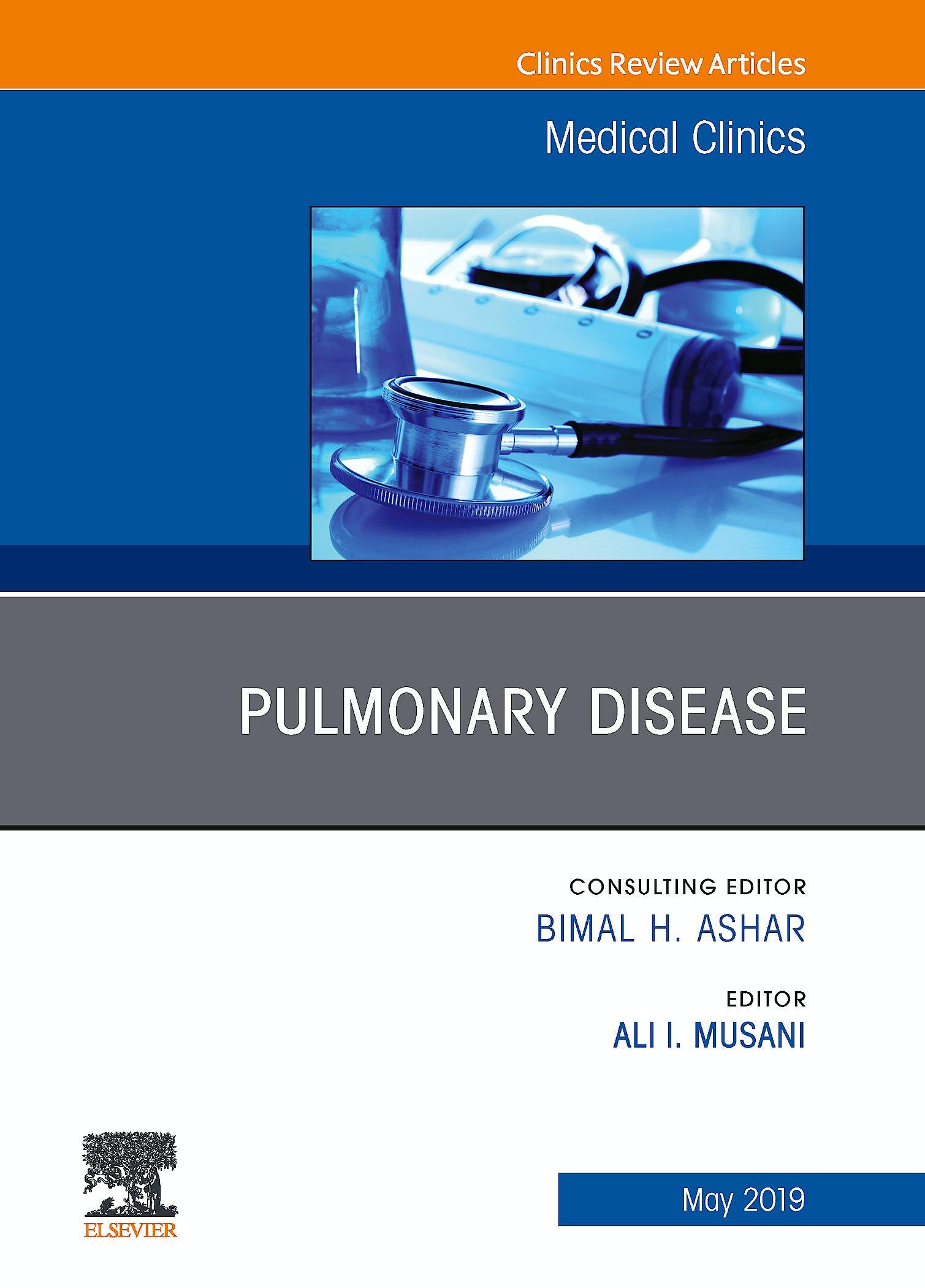 Portada del libro 9780323678827 Pulmonary Disease (An Issue of Medical Clinics of North America, Vol. 103-3)
